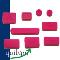 Macbook Cubre Puertos Protector Polvo Apple Kit Agua Rosa