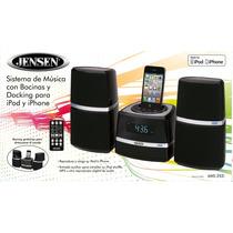 Docking Para Iphone Hi Fi Con Bocinas Y Reloj Jensen