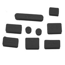 Apple Macbook Kit Cubre Puertos Protector Polvo Agua Negro