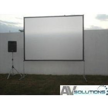 Lienzo De Pantalla P/ Videoproyeccion Delantera- Trasera 3x2