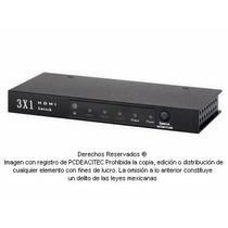 Switch Selector De Video Hdmi 3x1 Con Control Remoto 8502