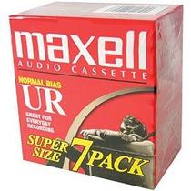 Maxell Ur-90 Blanco De La Cinta De Casete De Audio - 7 Pack