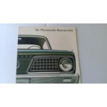 Catalogo De Venta De Plymouth Barracuda 1966 Original Raro