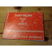 Manual De Usuario Guía De Mantenimiento Para Datsun