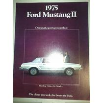 Catalogo De Venta De Ford Mustang 2 1975 Original Nuevo
