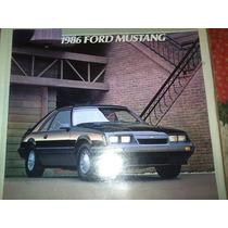 Catalogo De Venta De Ford Mustang 1986 Original Nuevo