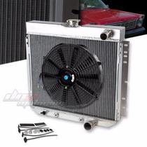 Radiador Aluminio+ X 2 Ventilador Mustang 67-69