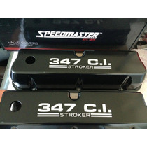 Tapas De Aluminio Negro Cubre Válvula Ford Sb 289 302 351