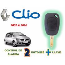 02-10 Renault Clio Control De Alarma Con Llave Virgen 2 Bot.