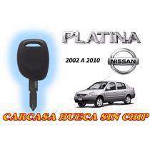 02-10 Nissan Platina Carcasa Hueca Con Llave Y Sin Chip