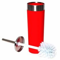 Cepillo Para Wc Acero Inoxidable Y Pvc Rojo Namaro Design