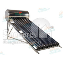 Calentador Solar 130 Litros Acero Inoxidable