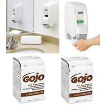 Paquete1 Dispensador Gojo De Pared + 2 Jabones Liquidos Gojo