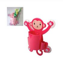 Puerta-cepillo De Dientes En Forma De Mono (rojo)