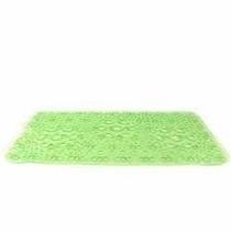 Tapete Para Baño Geometrica Verde Antiderrapante Namaro