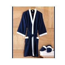 Bata De Baño Con Pantuflas Azul