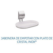 Accesorio Para Baño Jabonera Plato Cristal Urrea 9908 Inox