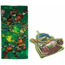Tb Set De Toallas Nickelodeon Teenage Mutant Ninja Turtles 2