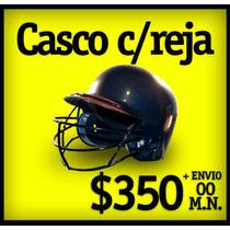 Casco Con Reja Para Extra Proteccion Del Bateador.