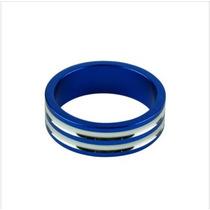 Espaçador De Aluminio Com Lista Tallo, Altura 10mm (azul)