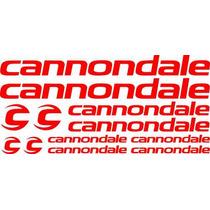 Jgo De 12 Calcomanias Para Bicicleta Cannondale