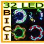 Luz Rueda Bicicleta Cambia Color 32 Led Rgb Luz Hm4