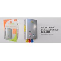 Calentador De Agua De Paso Gaxeco 6 Litros Gas Lp