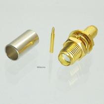 Conector Rp-sma Hembra Con Pin Central P/ Rg58 Lmr195 Rg142