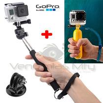 Gopro Kit 2 Accesorios Monopod + Floaty Pole Baston Go Pro