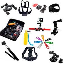 Estuche Con Kit De Accesorios Para Gopro Sj4000 Y Sj600