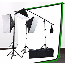 Super Studio Fotografico 2000 Watts Softboxes Y Hairlight