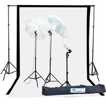 Estudio Fotografico Kit De Iluminacion Y Sombrillas Foto Vid