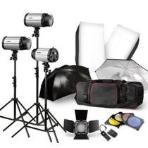 Kit Fotografico Estudio Iluminacion Fotografia Foto 750w Hm4