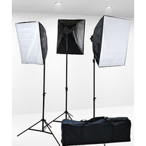 Kit Iluminacion Video Luz Continua 3000 Watt 3 Softbox Maa