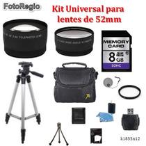 Kit Universal Para Lentes De 52 Mm D7000 D7100 D7200