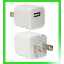Cargador 110v A Usb Apple Ipod Iphone Ipad Mp3 Mp4 Blanco