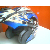 Casco Moto Abatible Azul Tintes Negro Nuevo Talla Xl Nuevo