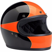 Biltwell Gringo Le Scallop Full Face Helmet Black/orange