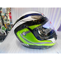 Casco Roda Abatible Color Verde Talla L