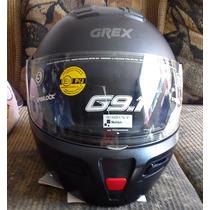 Casco Grex G9.1 Color Negro Mate Talla L C/lentes Obscuros