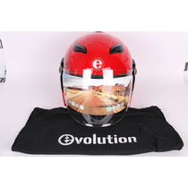 Casco Evolution Para Moto Super Como Talla M Mica Abatible