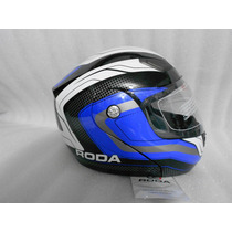 Casco Roda Abatible Deliver Color Azul Talla L