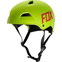 Casco Fox Flight Hardshell Amarillo Fluo Talla M Bici Mtb