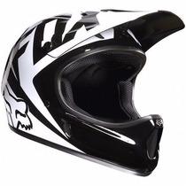 Casco Fox Rampage Bicicleta Mtb Downhill Talla M Blanco