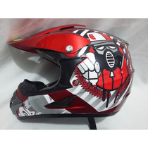 Casco Profesional Bmx/ Cross Graffiti Djinn