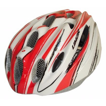 Casco Ciclismo Limar 635 Blanco Rojo Ideal Ruta Urbano