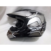 Casco Profesional Bmx / Cross Srk Black