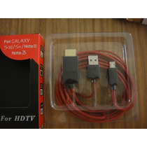 Cable Hdmi Mhl Galaxy Note 3 S4 S3 Micro Usb Adaptador
