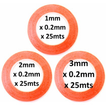 Juego De 3 Cintas Adhesivas Doble Cara 1mm 2mm 3mm X 25mts !