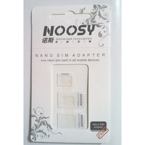 Adaptador Convertidor Noosy 3-1 Nano, Micro Sim Iphone 5, 6